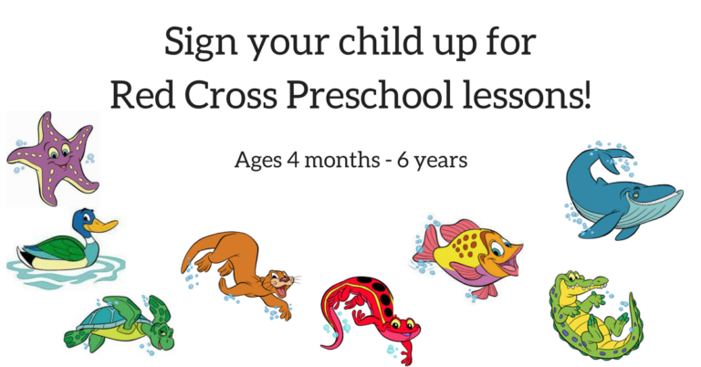 Sign your child up for Red Cross Preschool lessons!